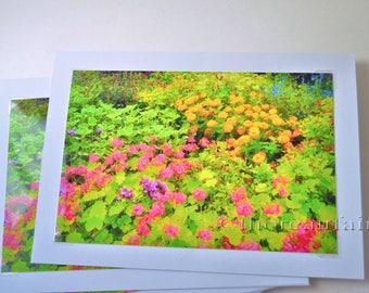 Garden Floral 5x7 Blank Greeting Card - Floral Fine Art Photograph