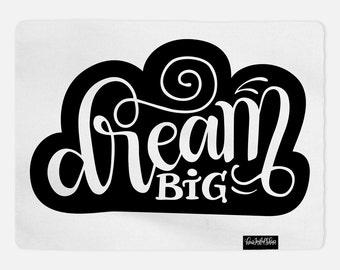 Swaddle - Dream big cloud baby swaddle - Custom color - Organic cotton & fleece baby swaddle
