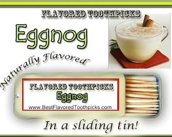 Eggnog Flavored Toothpicks - 70+ Flavors! Adult Stocking Stuffers, Christmas, Holidays, Thanksgiving, Mens Stocking Stuffer, Xmas,
