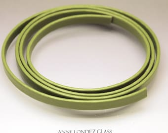 8 inches (20 cm) Flat leather cord 6x2.5mm recycled leather strap  6x2.5 mm leather for bracelets 6mm upcycled leather