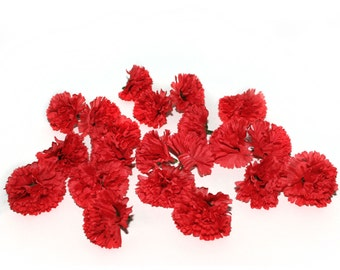 25 Valentine Red Baby Carnations - Artificial Flowers