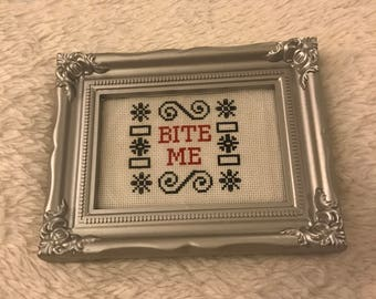 Bite Me Cross Stitch