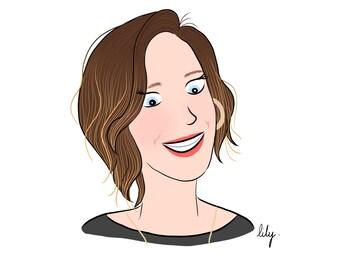 Custom illustrated portrait I for one