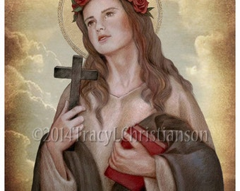 St. Rosalia of Palermo, Catholic Patron Saint of evolutionary studies #4163