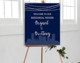 Rehearsal Dinner Sign, Wedding Sign, Welcome to our Wedding Sign