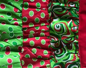 Ruffle Apron Christmas