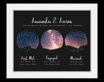 AS 3 Location Star Map Constellation Chart Night Sky - Personalized Mother Father Day Gift for Mom Dad 37693