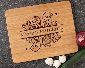 Cutting Board, Personalized Wedding Gift, Personalized Gift, Engraved Cutting Boards, Bamboo Cutting Boards, Housewarming Gifts-15 x 12 D4
