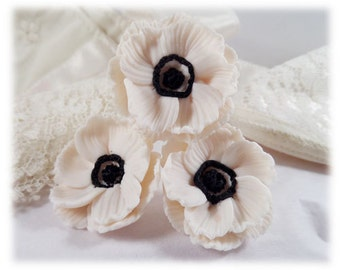 Anemone Hair Pins - Anemone Hair Accessories, Anemone Wedding Hair Flowers, Anemone Flowers
