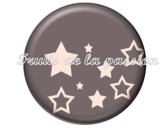 Set of 2 cabochon 20mm, text, fairy, stars