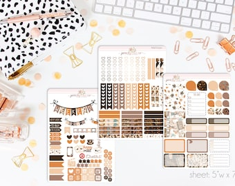 Fall Fashion VERTICAL Weekly Kit // 140+ Matte Planner Stickers // Perfect for your Erin Condren Life Planner // WKV0330