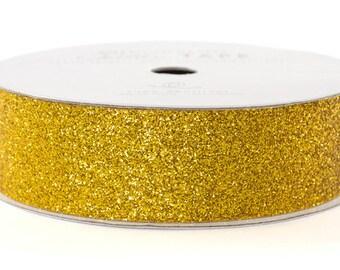 "Glitter Tape Gold - 7/8"" x 3 yds - 100% Archival"