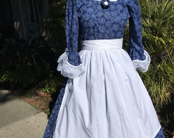 DAR GOWN revolutionary war colonial women dress  1776 made to your measurements choice of print &color