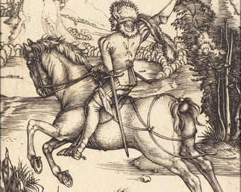 Poster, Many Sizes Available; Albrecht Durer The Little Courier Nga 1943.3.3456
