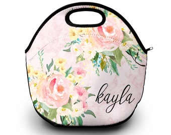 Monogrammed Lunch Tote , Monogram Lunch Bag,  Monogrammed Lunchbox, Monogrammed Gift    Lunch Bag for Women