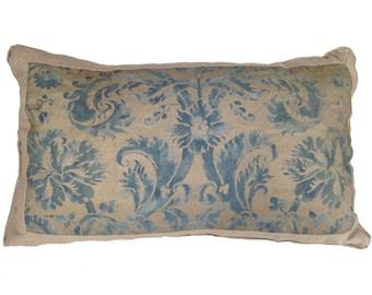 Vintage Italian Fortuny Pillow (oversized)