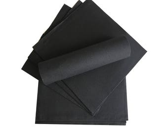 Black Napkins, Paper, LUXURY, Extra Large - PACK OF 20