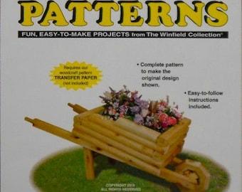 Wheel Barrow Flower Planter Woodcraft Pattern