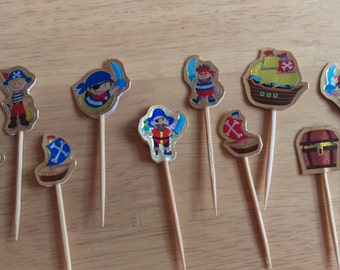 Small Pirate Cupcake Toppers