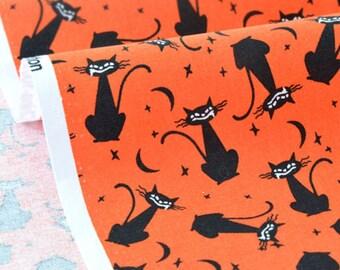 US fabric patchwork - cat saliva Halloween night x 50cm