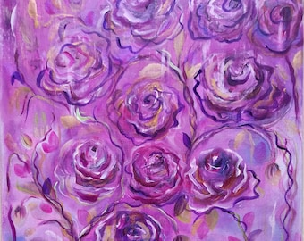 Abstract - bouquet of roses-
