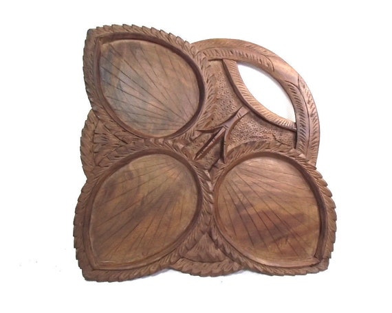 Vintage Wooden Canapes Tray