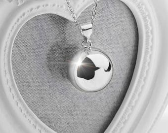 Harmony Ball FREYA Silver Bola Ball Large 20mm Pendant & Necklace - Pregnancy Maternity Mexican Angel Caller Mum to Be
