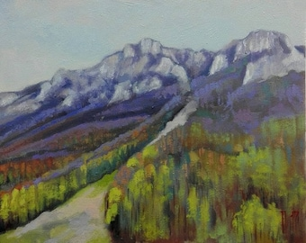 Old mountain 4  original oil painting
