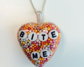 Very cute heart shaped sprinkles necklace