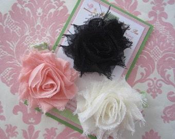 Girl hair clips - flower hair clips - girl barrettes - girl hair clippies