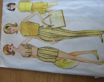 McCall's Pattern 5794 Misses' Sports Separates or Bathing Suit -- Bra, Top, Pants, Shorts    1961