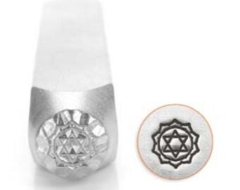 Metal Design Stamp By Impressart 6mm Heart Chakra