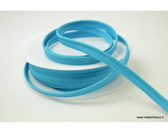 Passepoil 10 mm coton Bleu Caraibes