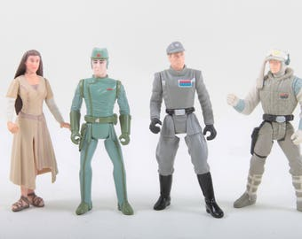 Star Wars, Vintage, Action Figures, Imperial Officers, Green, Grey, Uniform, Soldiers, Commander, Woman, 1990s Toys ~ The Pink Room ~ 170521