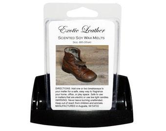 EXOTIC LEATHER Soy Melts - Wax Tarts - Soy Tarts - Candle Tarts - Melting Tart - Scented Tart - Tart Melt - Wax Melt - Clamshell - Dye Free