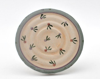 Broken China Mosaic Tile - Recycled Plates - Focal - Round - Dainty Flowers