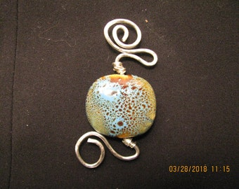 Silver and Ceramic Pendant
