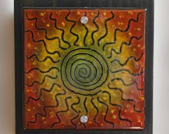 Into the Fire - Fused Glass Wall Art