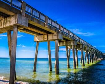 Panama City Beach Pier Fine Art Print - Travel, Scenic, Landscape, Nature, Home Decor, Zen