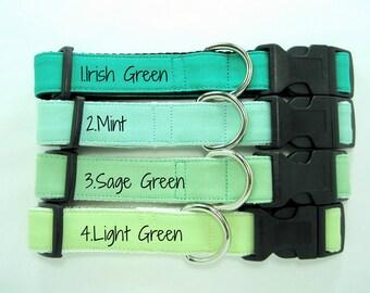 Green Dog Collar,Mint Dog Collar ,Light Green Dog Collar ,Irish Green Dog Collar