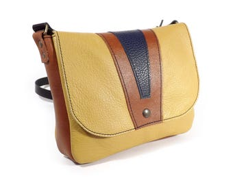 Small yellow leather bag