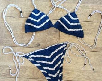 Itsy Bitsy Stripped Bikini Set