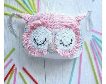 Baby Hat Knitted Hat Sleeping owl