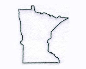 Minnesota State Tea Towel | Embroidered Kitchen Towel | Personalized Kitchen | Embroidered Towel | Hand Towel | Minnesota Gift