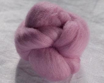 Merino Wool Top 100%, Needle Felting Wool, Wool Roving, Hand Spinning, Hydrangea Purple, Merino Wool Felt, Soft Merino Wool, mw51
