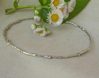 Bangle Bracelet Queen Size Silver Twig