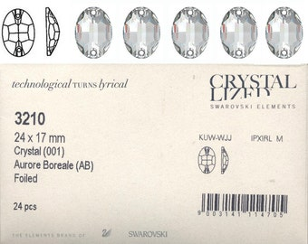 Swarovski 3210 24x17mm Crystal AB Sew on Stone - Price is for 1 stone