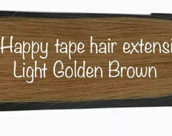 Light Golden Seamless Brown Extension Remy Tape In Extensions Remy Human Hair Extensions Real Human Hair Tape Hair Colored Hair I need Hair