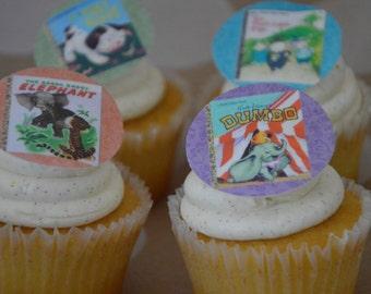 Little Golden Books Cupcake Topper, Goden Books, Birthday Cupcake Topper, golden books, wafer paper cupcake topper, wafer paper