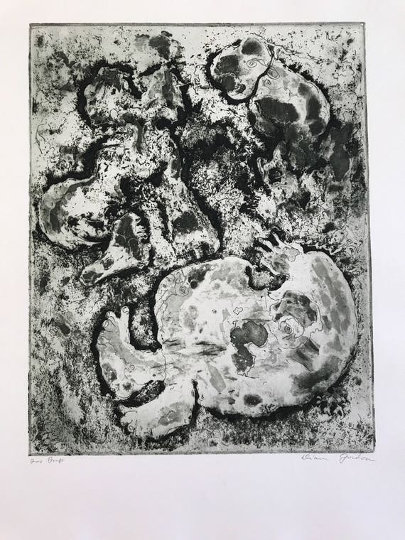 1969 Abstract Print by Diana Gordon
